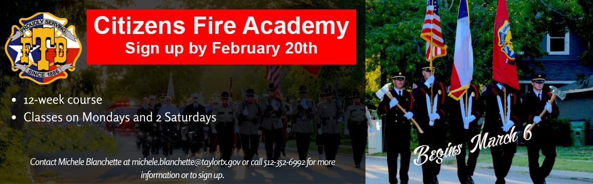 Citizens Fire Academy banner 2017