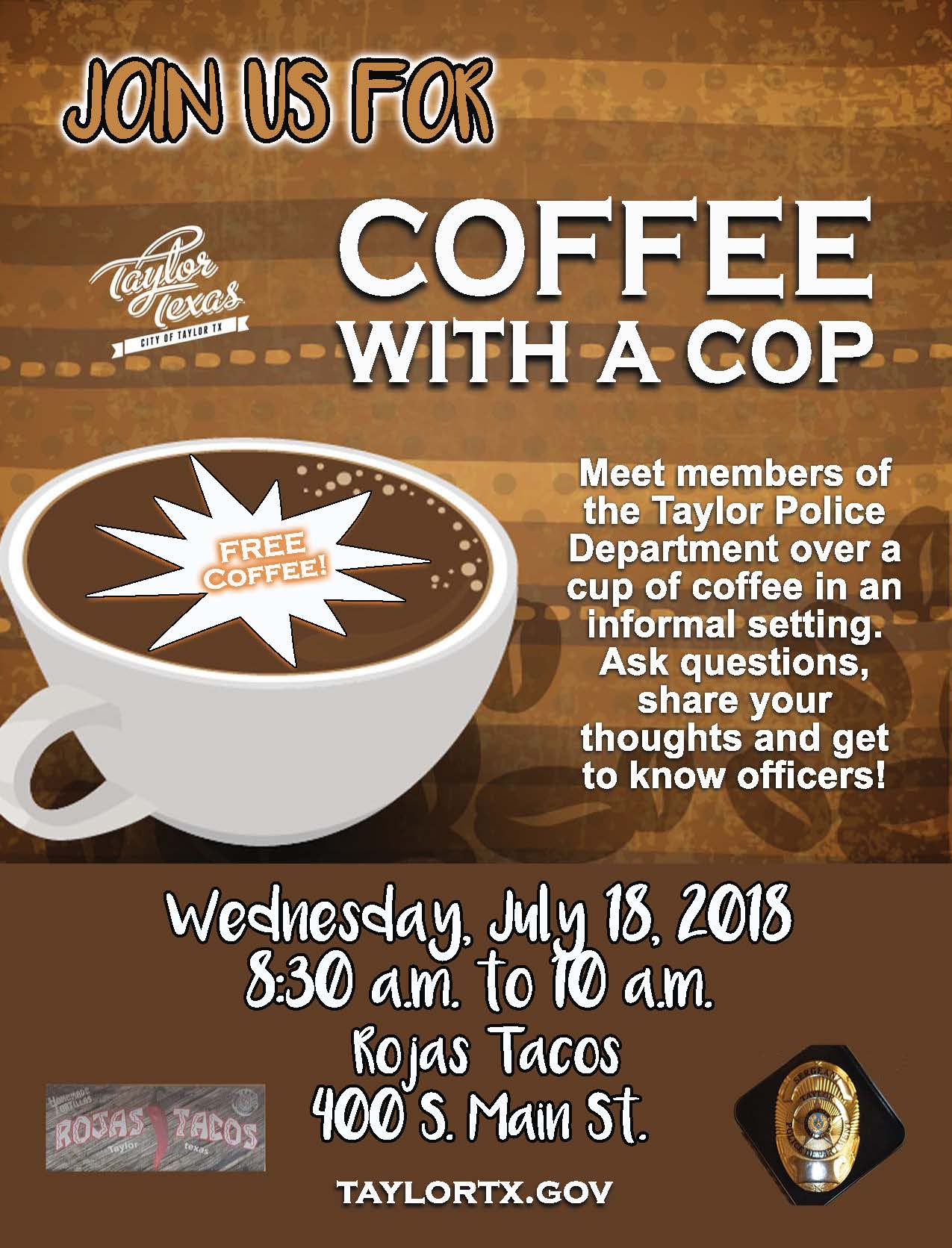 2018 Coffee With a Cop-July18