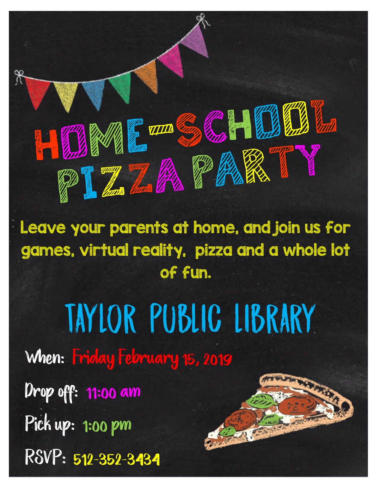 Homeschool Pizza Party