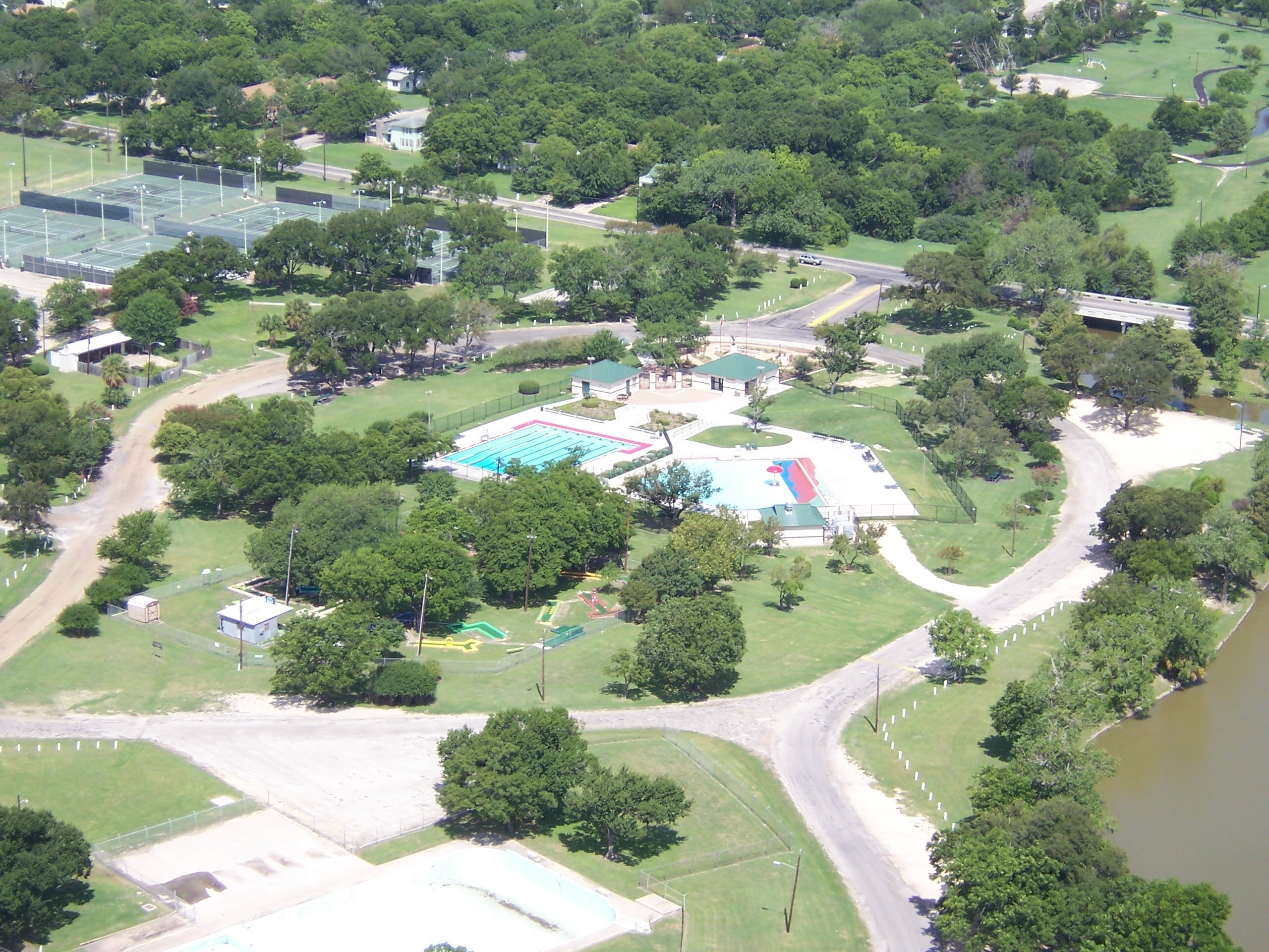 Aerial view of parks
