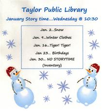 January Storytime Flyer