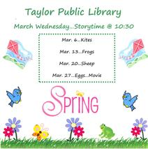 March Storytime Flyer