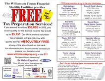 Free Tax Preparation Services Flyer