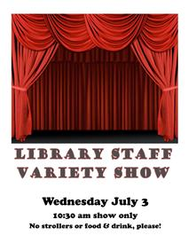 staff variety show poster