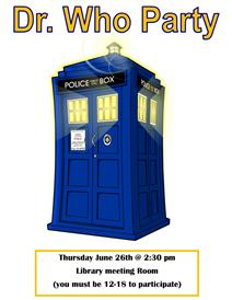 Dr. Who Party poster