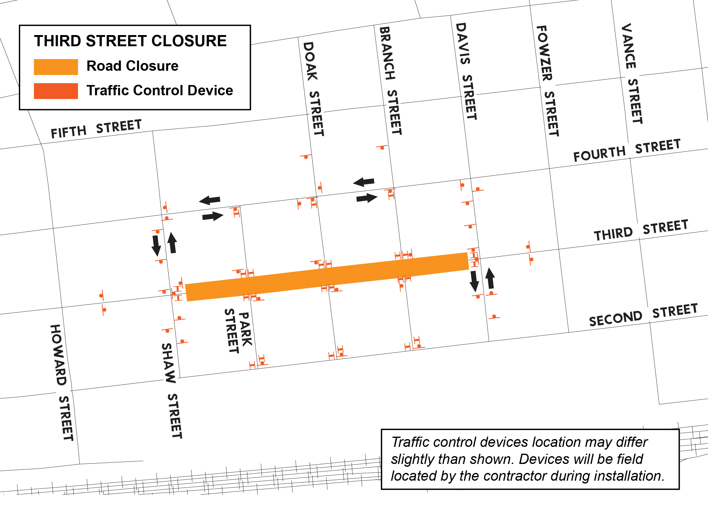 3rd Street Reconstruction and Road Closure Graphic