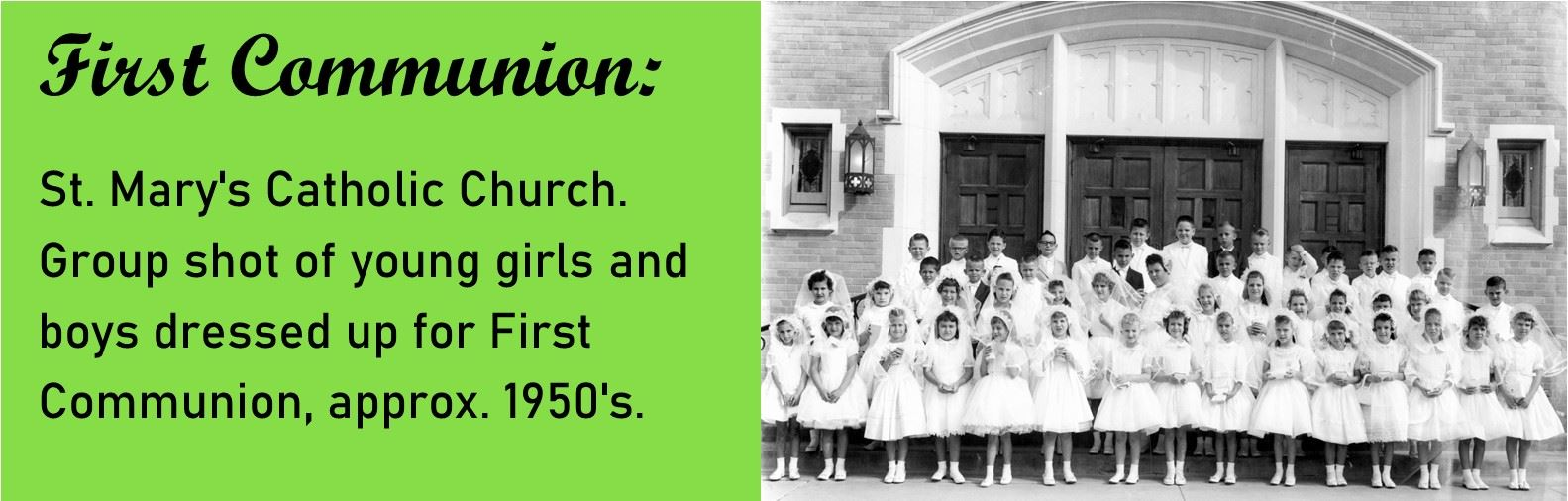 First Communion St Marys